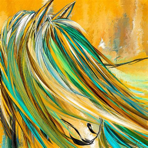yellow and turquoise garden painting by lourry legarde joyous soul yellow and turquoise artwork painting by