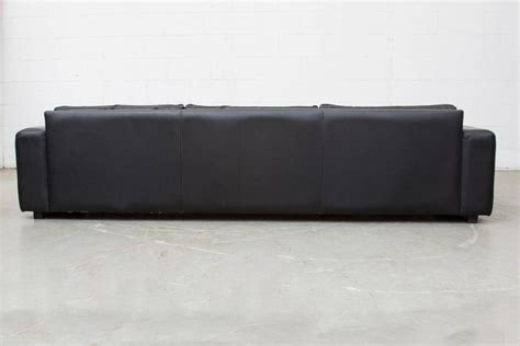 long leather sofa extra long mid century leather sofa for sale at 1stdibs