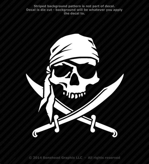 jolly roger boat decal pirate skull cross swords jolly roger vinyl decal