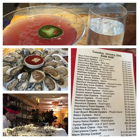martini oyster spicy jalapeno martini oyster sler bar menu and