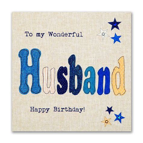 Birthday Cards From Hand Finished Wonderful Husband Birthday Card Karenza