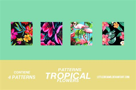 deviantart pattern tropical flowers patterns by littledr3ams on deviantart