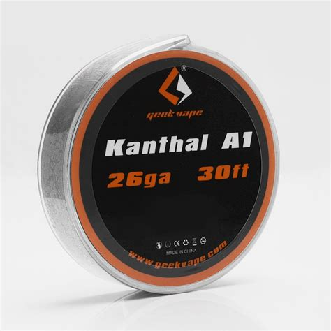 Authentic Kanthal A1 By Ud 26 044mm Ga 1 Ohm Prebuilt Coil authentic geekvape kanthal a1 26ga 0 4mm 10m heating