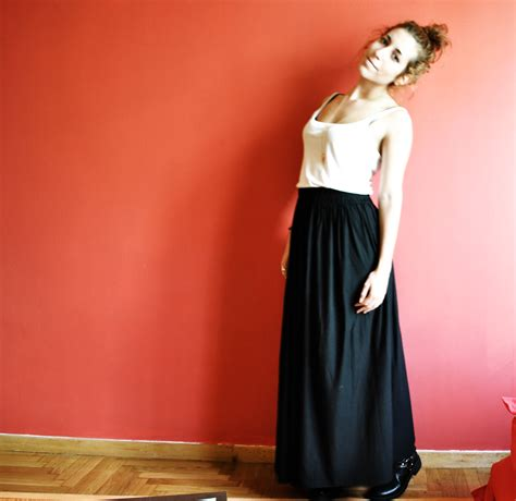 Pattern For Jersey Maxi Skirt | maxi jersey skirt sewing projects burdastyle com