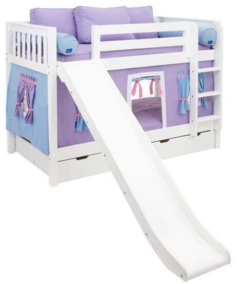girl twin loft bed with slide top bunk beds for girls