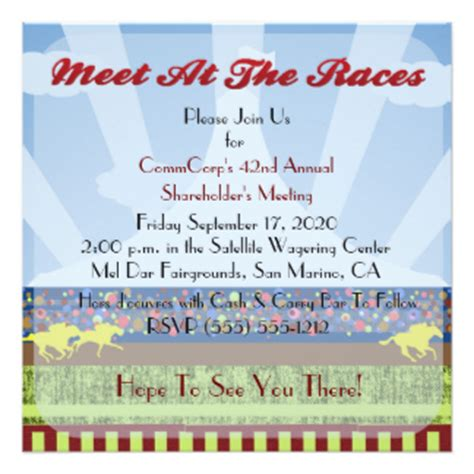 track meet relay card template business meeting invitations announcements zazzle canada