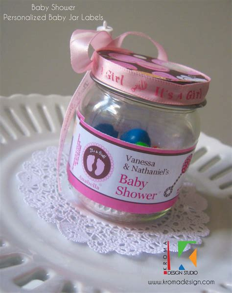 baby showers diy printable baby jar label favors for