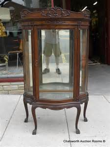 Curio Cabinets Sale Rare Rj Horner Quartered Oak Diminutive Curio Cabinet For