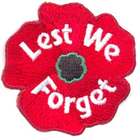 Patch Poppy Football Remember lest we forget poppy iron on embroidered patch by e patches crests