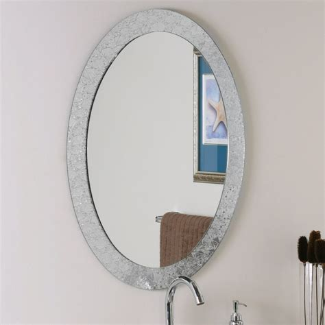 oval shaped bathroom mirrors best decor things shop decor wonderland crystal 23 6 in x 31 5 in clear oval