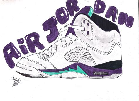 Drawing Jordans by How To Draw Retro 5 Jordans