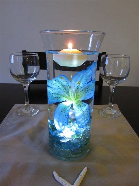 new year flower vase light blue tiger 2015 new year floating candle vase