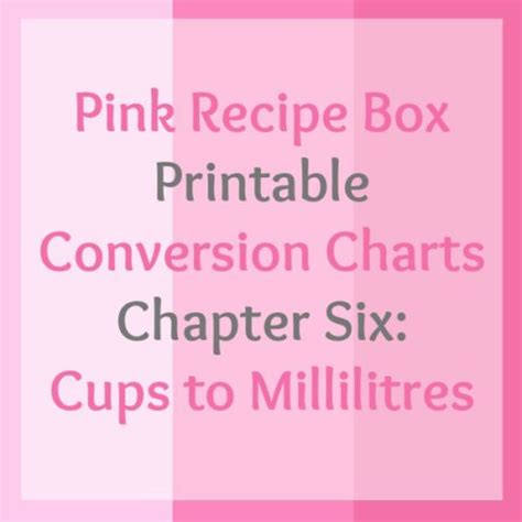 pink recipe box printable conversion charts chapter four printable conversion chart series chapter six cups to