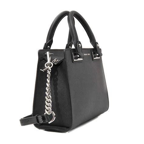 Mk Small Satchel Black michael kors quinn small satchel in black lyst