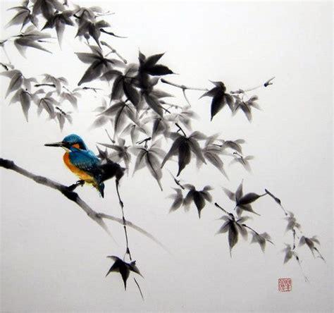 ink painting japanese art asian art sumi e suibokuga