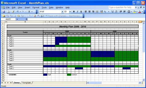 monthly planner template excel printable planner template