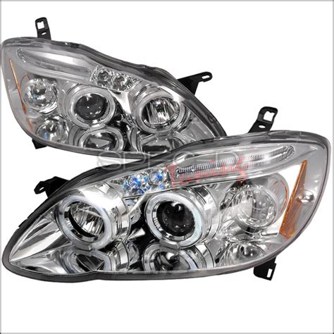Fogl Toyota Landcruiser 2008 2011 Projector 2003 2008 toyota corolla halo led projector chrome