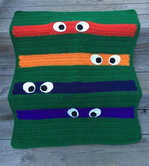 crochet pattern ninja turtle blanket ninja turtle blanket crocheted kids ninja turtle by