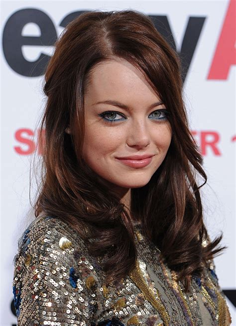 emma stone brown hair best brown hair color ideas for 2016 2017 part 11