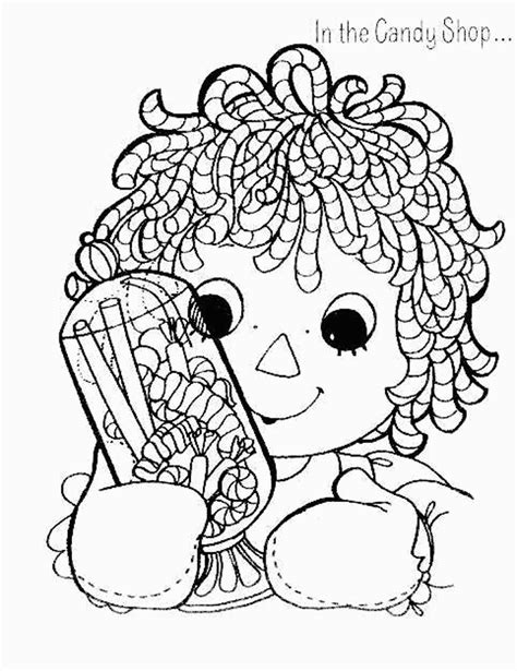 raggedy ann coloring pages coloring factory