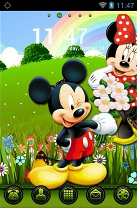 themes android mickey mouse mickey and minnie android theme for go launcher