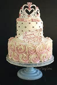 princess rosette with tiara cake by lorieleann cakesdecor