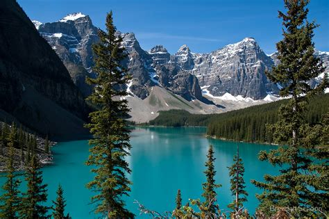 Wall Clocks Canada Home Decor by Quot Banff National Park Moraine Lake Quot By Brendan Schoon
