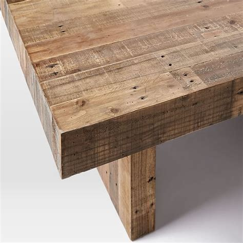 reclaimed wood square dining table emmerson reclaimed wood square dining table 60 quot sq