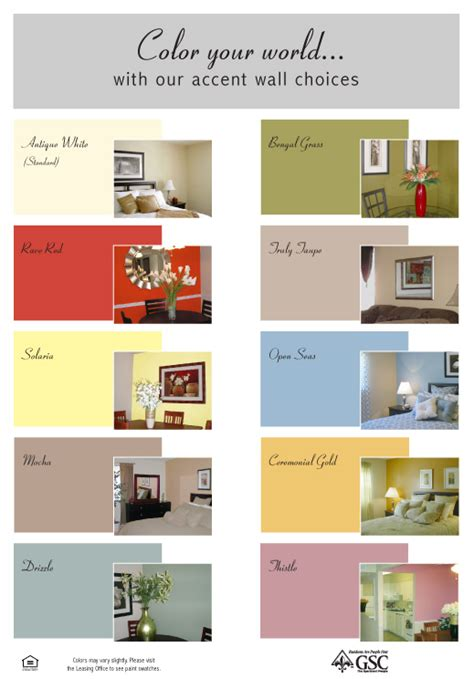 accent wall color combinations design