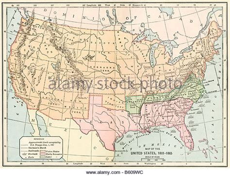 united states map during the civil war 1862 united states stock photos 1862 united states stock