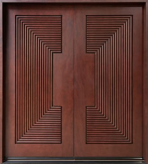 Entrance Doors Mahogany Solid Wood Front Entry Door Double Master