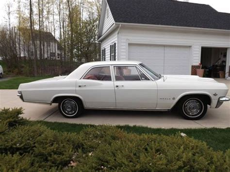 1965 Impala 4 Door sell used 1965 chevrolet impala 4 door sedan absolute auction with no reserve in lewis center