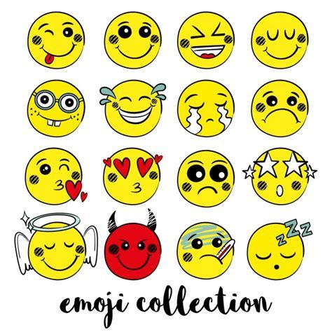 scarica clipart gele emoji collectie vector gratis