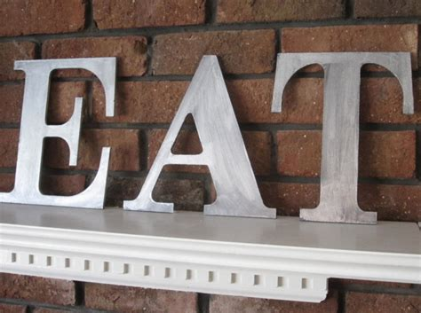 Eat Wall Decor by Metal Zinc Letters Eat Sign Wall Decor Wood Vintage