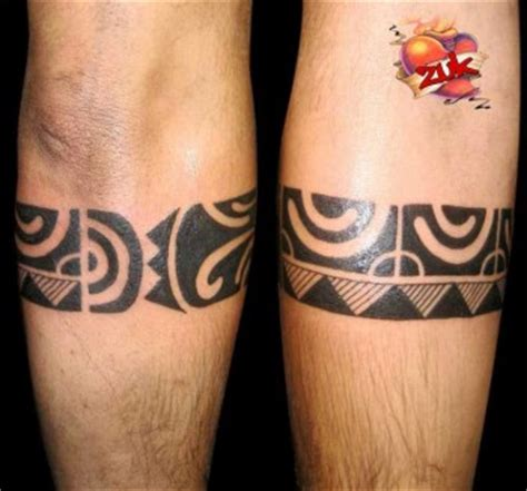imagenes de brazaletes mayas tatuaje de un brazalete maor 237 en la pierna tatuajes de