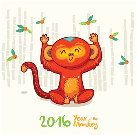 new year monkey 2015 new year card with monkey for year 2016