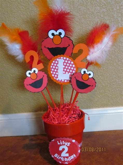 Elmo Centerpieces Decorations Elmo Centerpieces Sal