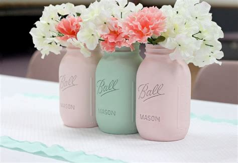 Blue Vases Cheap How To Paint Mason Jars Love Of Family Amp Home