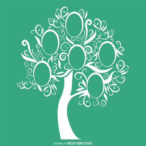 family tree template green family tree template vector