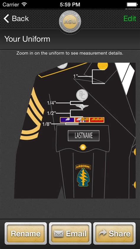 asu jacket layout iuniform asu builds your army service uniform app for