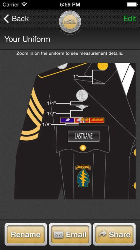 army dress blue uniform guide measurements army asu iuniform asu builds your army service uniform app for