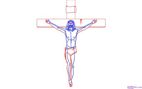 How To Draw Jesus On The Cross Step By Step Symbols Pop Jesus On The Cross Drawings