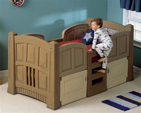 twin size beds for boys twin size loft bed with side rail and space saving ladder