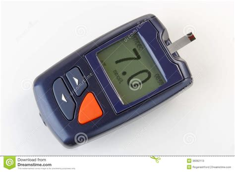 blood glucose monitoring meter  diabetes stock