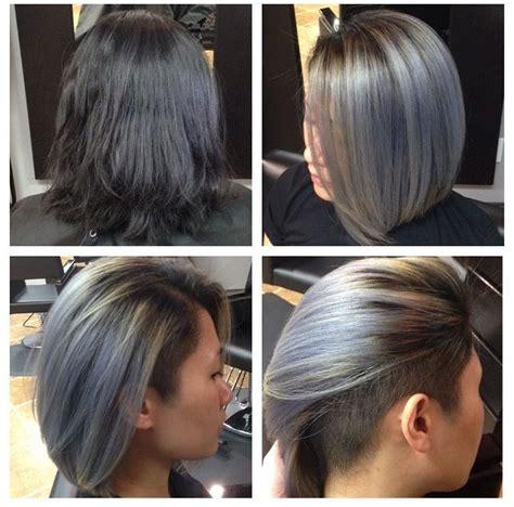 medium bob with undercut hair grey undercut bob hairstyles pinterest bobs
