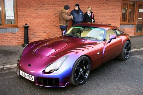 Tvr Paint Tvr Sagaris Painted In Chromaflair Cars Pink