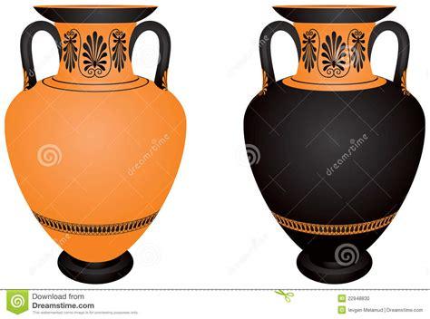 Greek Vase Outline Amphora Ancient Greece Archaeological Ceramic Stock
