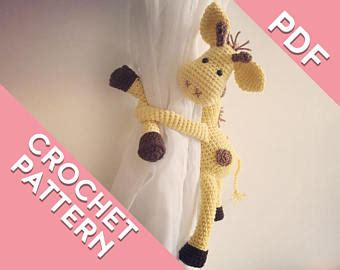 giraffe curtain tie backs etsy your place to buy and sell all things handmade