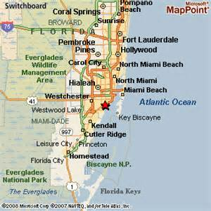 Map Of Miami Area by Miami Florida Area Submited Images Pic2fly