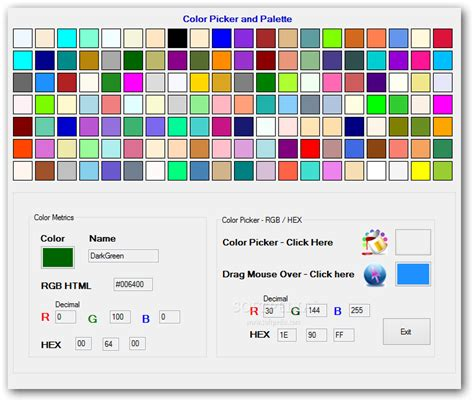 color palette picker color picker and palette